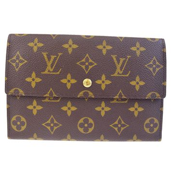 Auth LOUIS VUITTON Tresor Trifold Wallet Purse Monogram Leather M61202 01BD074