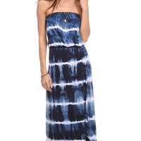 Stripped Tie Dye Maxi Dress