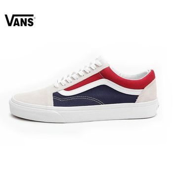 VANS OLD SKOOL Original Skateboarding Shoes Red and Blue Pepsi Color Matching VN0A38G1QKN for Women VN0A38G1QKN 35-39