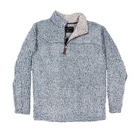The Original Frosty Tipped Pile 1/2 Zip Pullover in Denim by True Grit - FINAL SALE