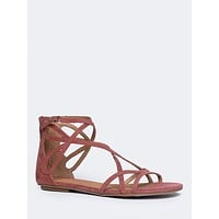 Penny Strappy Zip-Up Sandal