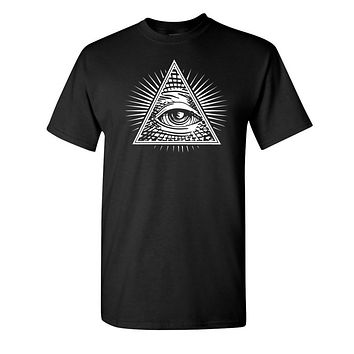 All Seeing Eye Of Providence - Masonic T Shirt
