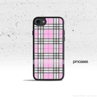Plaid Pink Phone Case Cover for Apple iPhone iPod Samsung Galaxy S & Note