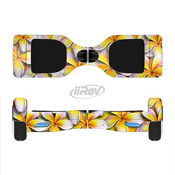 The Vibrant Yellow Flower Pattern Full-Body Skin Set for the Smart Drifting SuperCharged iiRov HoverBoard