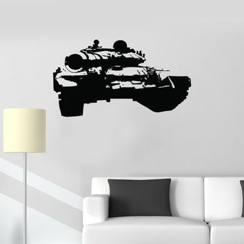 Vinyl Wall Decal Tank Military Decor War Boys Kids Room Stickers Mural Unique Gift (ig2641)