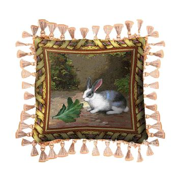 Fine Art Tapestries Home Decorative Lapin Lettuce Cotton Pillow
