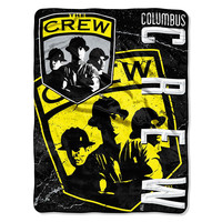 Columbus Crew MLS Micro Raschel Blanket (Concrete Series) (46in x 60in)