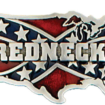 Redneck Rebel Flag Belt Buckle