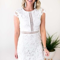 Incredible Story White Crochet Lace Dress