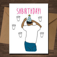 Bobby Shmurda Shbirthday Card Funny Rapper Rap Hip Hop Boyfriend Husband Girlfriend Wife