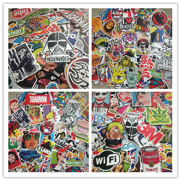 30Pcs Stickers car styling home decor Doodle laptop motorcycle bike travel case decal Car accessories Car-Styling classic toy