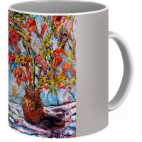 Orange Trumpet Flowers Coffee Mug for Sale by Kendall Kessler