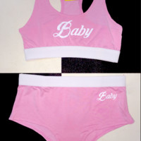 SWEET LORD O'MIGHTY! BABY UNDERWEAR SET IN PINK