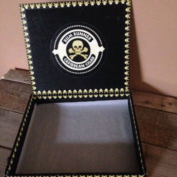 Vintage rum runner cigar box