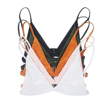 Womens Solid Swimwear Bikini Bra Tops Push-up Bra Swimsuit Bathing Underwear Bra