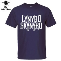 summer new brand LYNYRD SKYNYRD muisc rock letter print cotton t-shirt man t shirt casual top tee short sleeve plus size