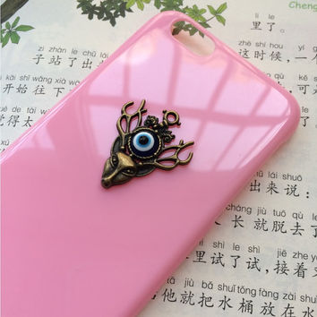 evil eye case,deer case,creative protective case for iPhone 6 iPhone 6 plus iPhone5/s, summer gift hard case,best friends gift