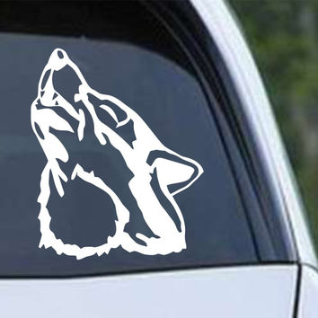 Wolf Howling (f) Die Cut Vinyl Decal Sticker