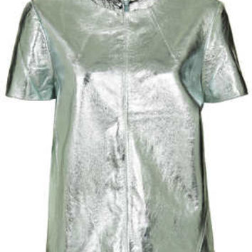 Metallic Leather Swing Tee - New In This Week  - New In