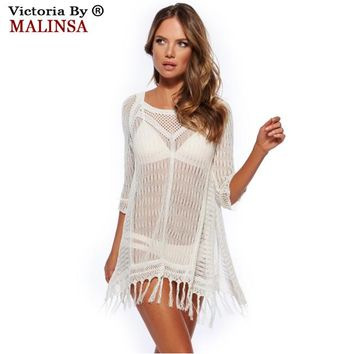 2018  Fringe Hollow Women Swimwear Summer Beach Cover Up, Outings Beach Crochet Swim Suit Cover Ups , Women Beach Wears
