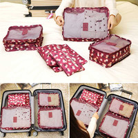 6PCS Travel Storage Bag Clothes Tidy Organizer Luggage Pouch Suitcase Handbag Closet Divider Drawer