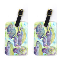 Pair of Manatee Luggage Tags