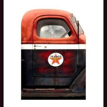 Texaco Gas Delivery Truck, framed black wood, white matte