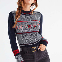 UO Cropped Fair Isle Crew-Neck Sweater | Urban Outfitters