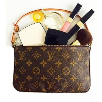 LV Louis Vuitton Retro Women Monogram Coin Bag Key Bag Zipper Wallet I/A