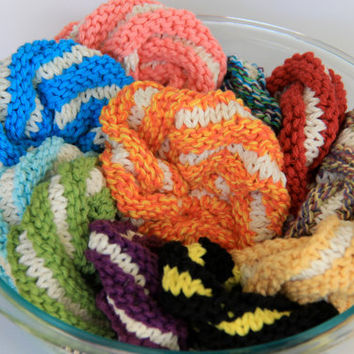 Large - set of 5 scrubbies - assorted colors