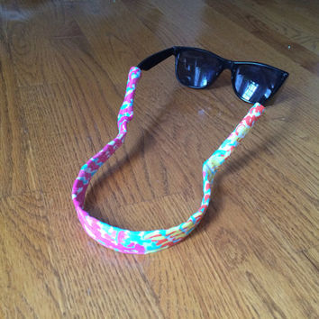 Lilly Pulitzer Croakies Sunglasses Straps - Wide Frame Sunnies