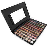 Fashion Special New Makeup Warm Pro 88 Full Color Eyeshadow Palette Eye Beauty Makeup Set Eye Shadow Professional 7# With Brush