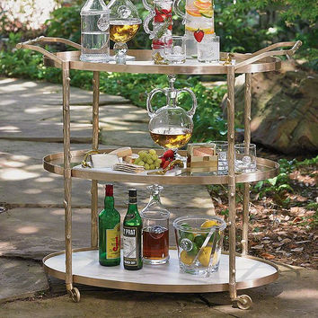 Global Views Arbor Bar Cart-Brass - Global Views 8-82047