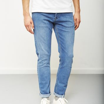 The Idle Man Slim Fit Jeans Stone Wash