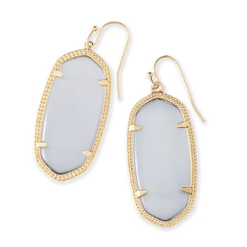 Kendra Scott Elle Slate Cat's Eye Gold Plated Earrings