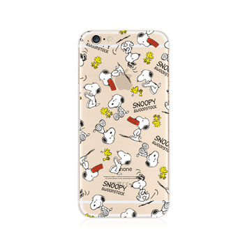 Snoopy Cartoon Pattern iPhone 6s 6 Plus SE 5s 5 Soft Clear Case