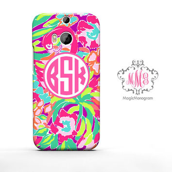 Tropical Lulu Juice Lilly Pulitzer Monogram HTC Case M9, M8 Case