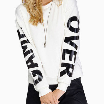 White Game Over Sweatshirt