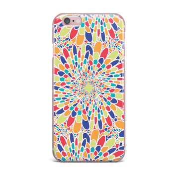 "Miranda Mol ""Flourishing Blue"" Multicolor Geometric iPhone Case"