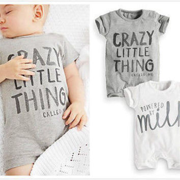 Letter Style Baby Girl Boy Summer Clothes New Born Body Baby Ropa Bebe Next Baby Bodysuit