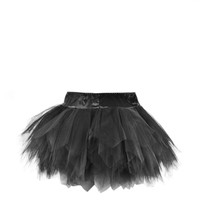 Black short tutu skirt