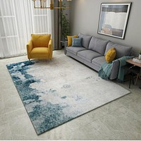 Abstract Ink Modern Carpets For Living Room