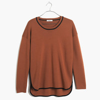 Tipped Shirttail Pullover