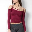 Suzette Criss Cross LS Top - Wine