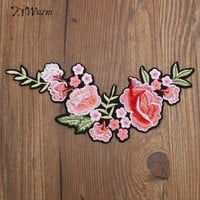 Flowers Patches Applique Embroidery Fabric Iron On Stickers For Clothes Bag Jacket Hat Shirt Flower Decal Brand Patch