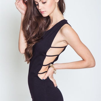 We Run This Side Cutout Midi Dress