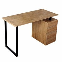 Techni Mobili Computer Desk w/ Storage & File Cabinet in Pine