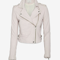 IRO EXCLUSIVE Leather Jacket: Pink Rose-BETTER IN LEATHER-TREND ALERT!-What To Wear-Categories- IntermixOnline.com