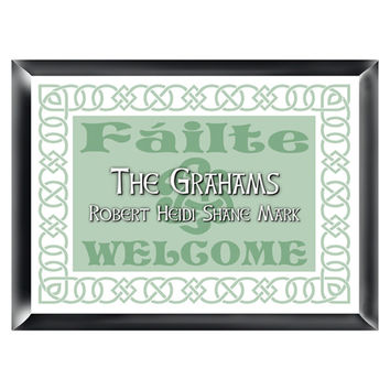 Irish Family Signs - Irish Linen