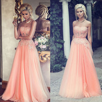 Tulle Party Dresses, Sweetheart Evening Gowns, Bling Bling Cheap Formal Dress, Lace Evening Dress, Beading Prom Dress